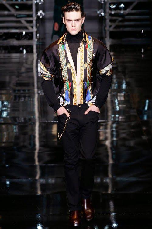 only Fashion - VERSACE AW 14 - 15   Menswear, Versace men