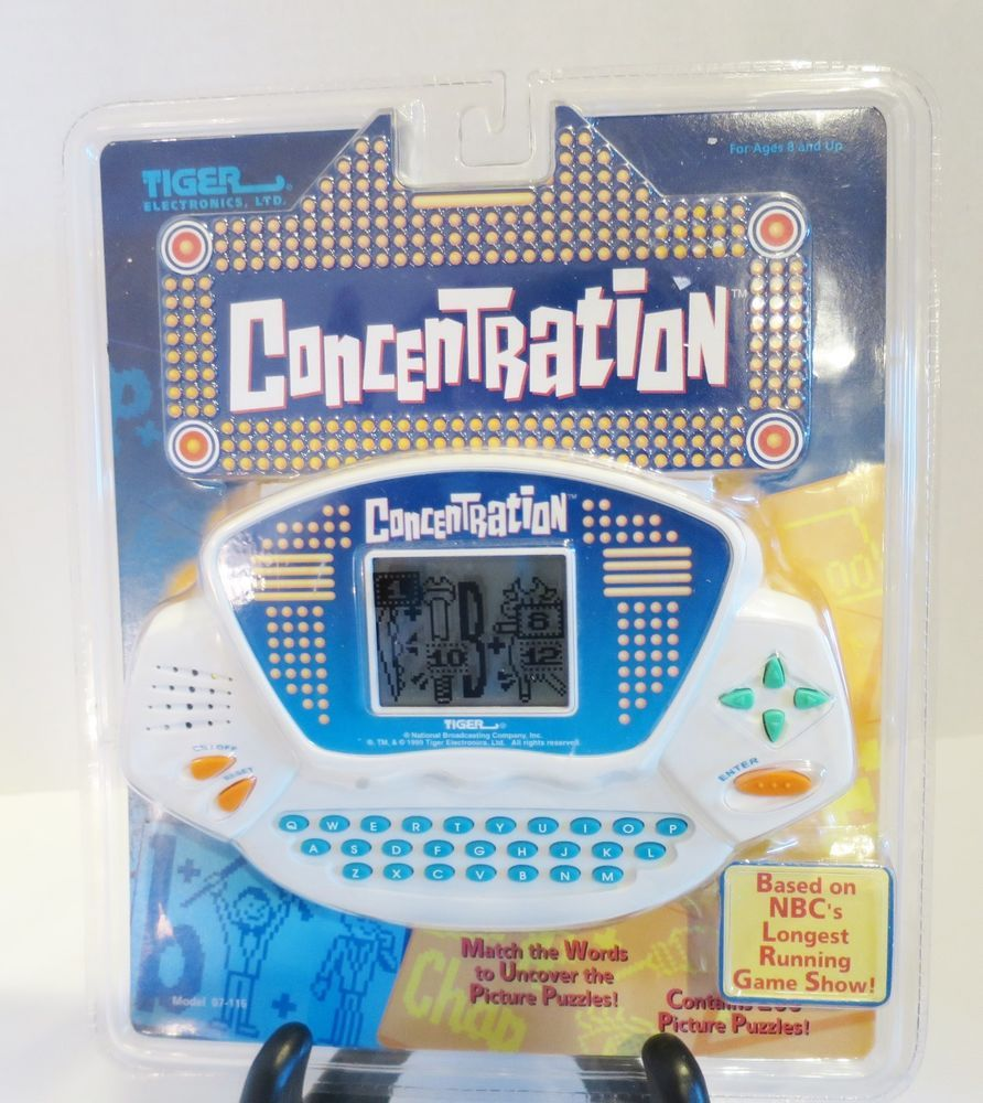 Concentration Handheld LCD Video Game Tiger Electronics1999 New In Package #TigerElectronics