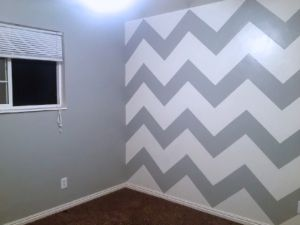 How To Paint A Chevron Accent Wall Chevron Accent Walls Accent