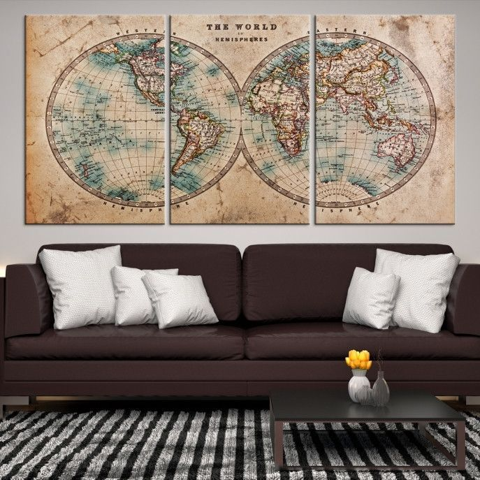 77279 large wall art world map canvas print extra large old 77279 large wall art world map canvas print extra large old world map wall gumiabroncs