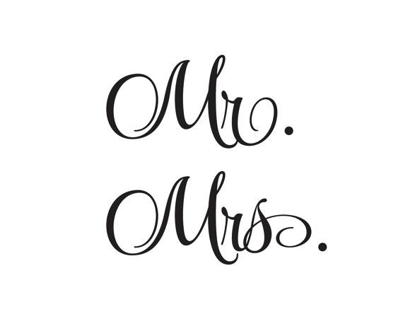 Mr and mrs decals for wedding decorations vinyl lettering create your own sign