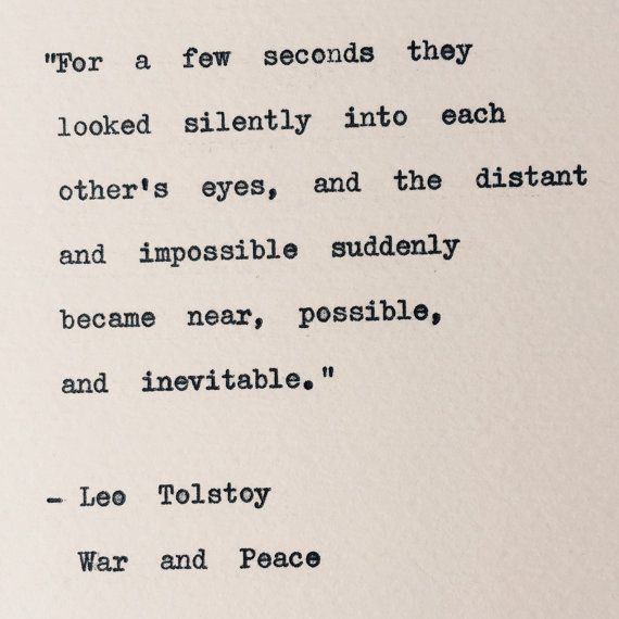 Leo Tolstoy War And Peace Typewriter Quote By Bookishgifts