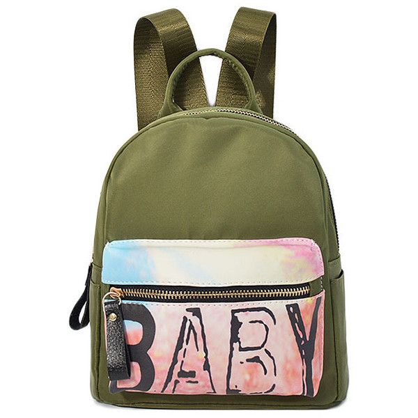 Letter Zip Nylon Satchel ($21) ❤ liked on Polyvore featuring bags, handbags, nylon bag, zip zip satchel, green satchel, nylon zipper bag and green satchel handbag