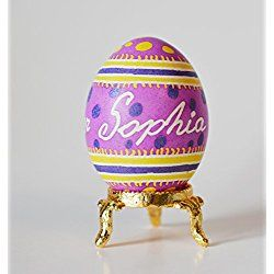 Happy easter sophia egg baby personalized pysanka egg baby first items similar to winnie the pooh babys shower reveal baby girl on the way personalize easter eggs for godchildren grand kids baby shower favors gifts on negle Images