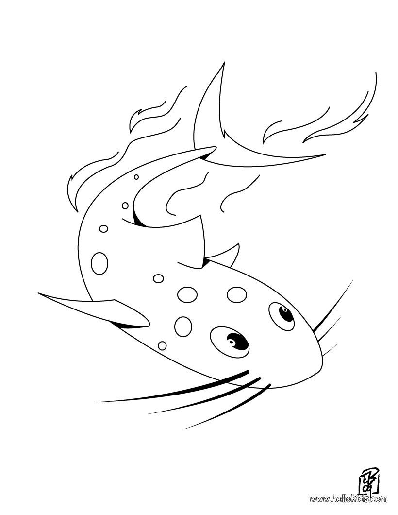 Catfish Coloring Page You Can Print Out This Catfish Coloring Page And Color It With Your Kids Enj Animal Coloring Pages Coloring Pages Online Coloring Pages