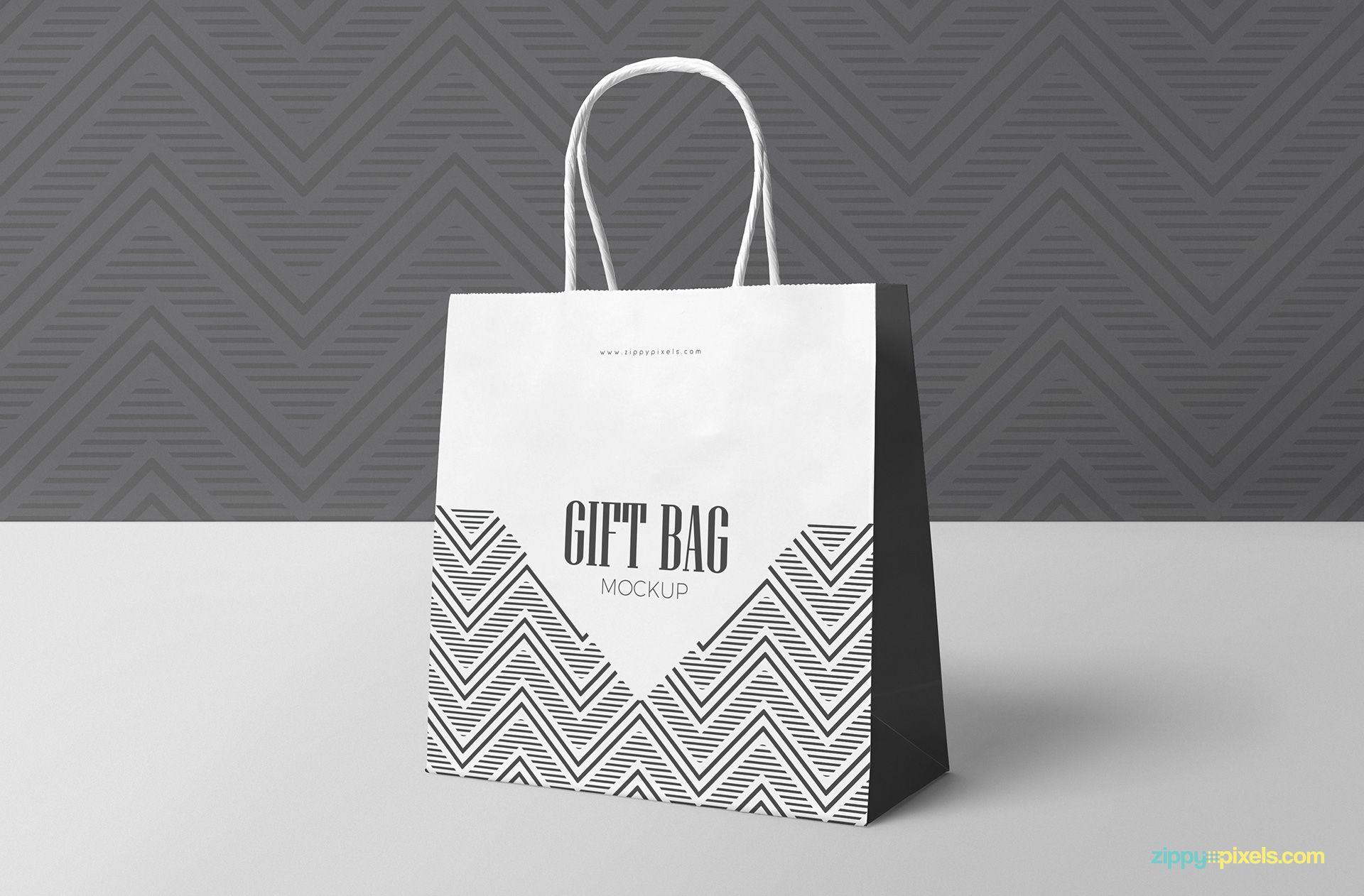 Download this isometric angled gift bag mockup and showcase your design in a creative and professional way. Free Attractive Gift Bag Mockup Zippypixels Bag Mockup Attractive Gift Psd Templates