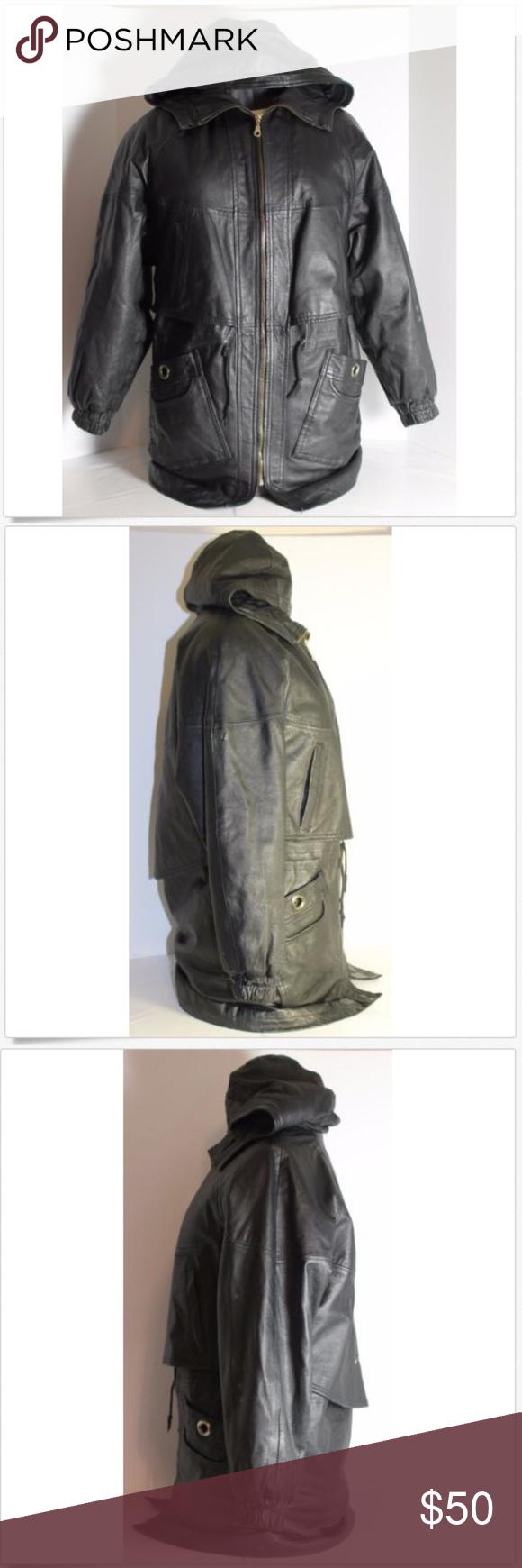 Comint Black Leather Jacket Coat Woman Sz Small Du Comint Black Leather Jacket Coat Woman Sz Small Dust Coats Jackets Women Black Leather Jacket Leather Jacket [ 1740 x 580 Pixel ]