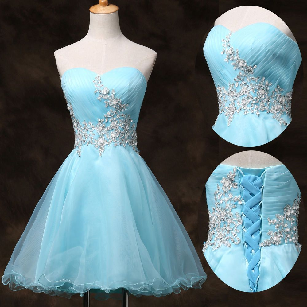 Short Prom Quinceanera Homecoming Graduation Gown Evening Party ...