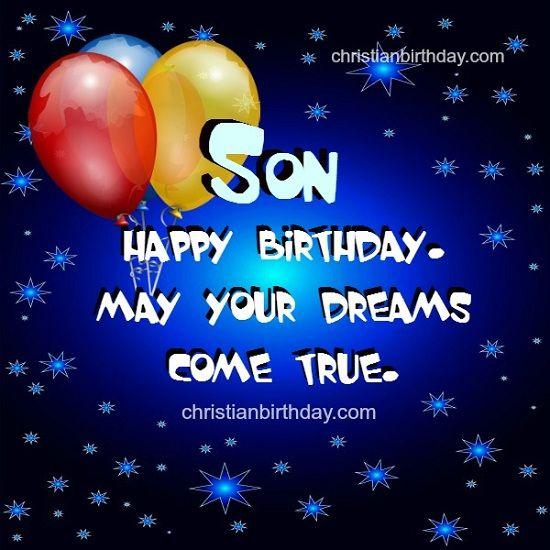 Happy Birthday Son Cards Birthday Cards For Son Happy Birthday Son Birthday Wishes For Daughter