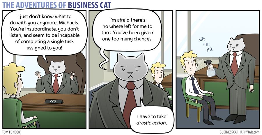 The Adventures Of Business Cat Funnies Cat Comics