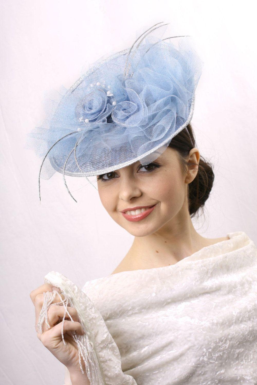 4c768d6b3edf4 Light blue Kentucky derby Hat