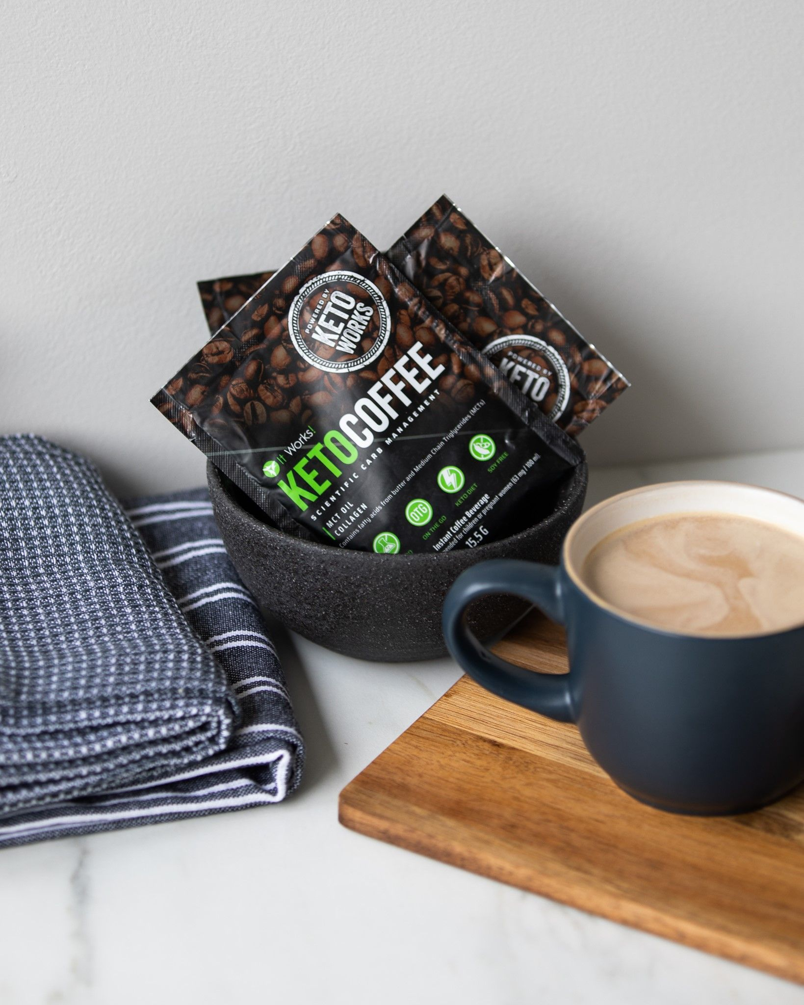 Keto Coffee Instant Coffee packets by It Works powered