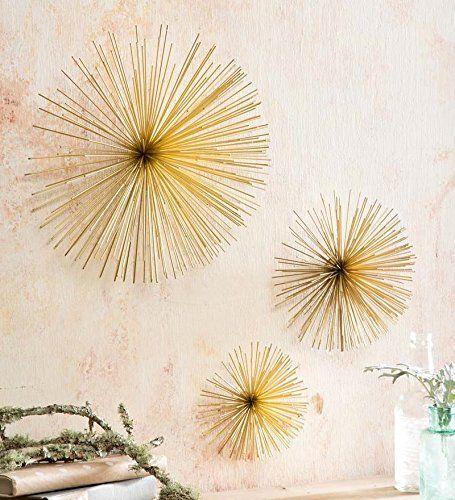 Three-Dimensional Sunburst Wall Art, Set Of 3 Wind & Weather® http ...
