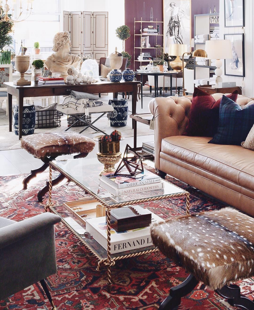 The Coziest Rooms On Instagram #refinery29  http://www.refinery29.com/cozy-winter-room-decor-instagram-pictures#slide-7  A mix of texture and patterns makes ornate furniture feel more lived-in....