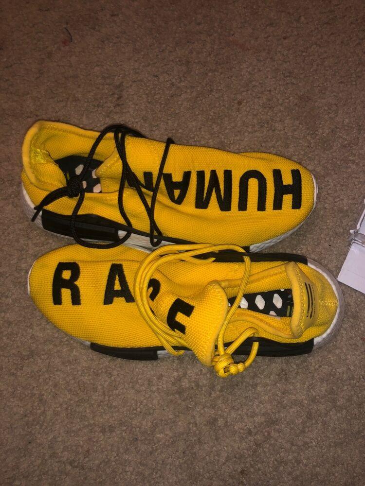 best service f66fb 03aca Size 8 Adidas NMD HU Pharrell Human Race Yellow BB0619 (2016 ...