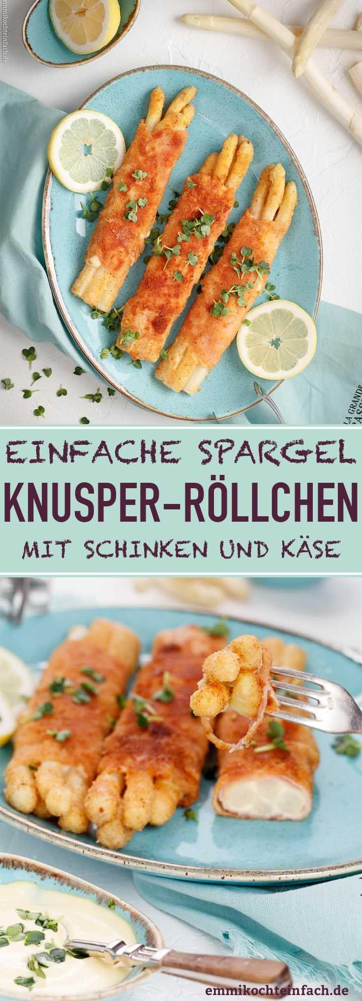 Spargel Knusperröllchen mit Schinken und Käse #maketacoseasoning