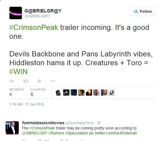 Let's hope the rumors are true.... Crimson Peak