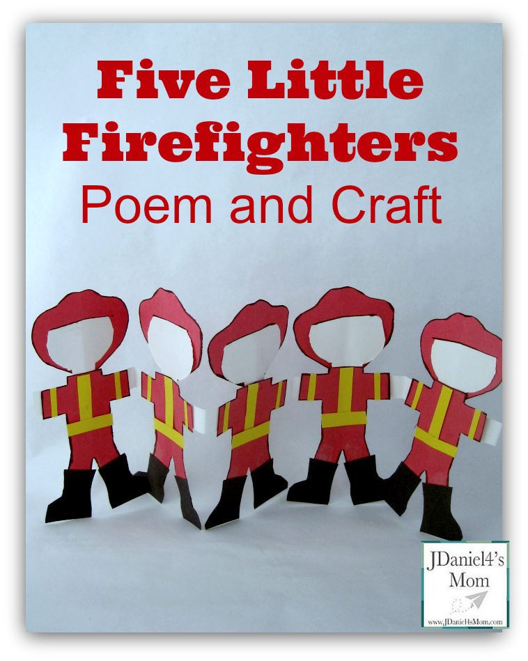 Community Helpers Five Little Firefighters Poem and Craft