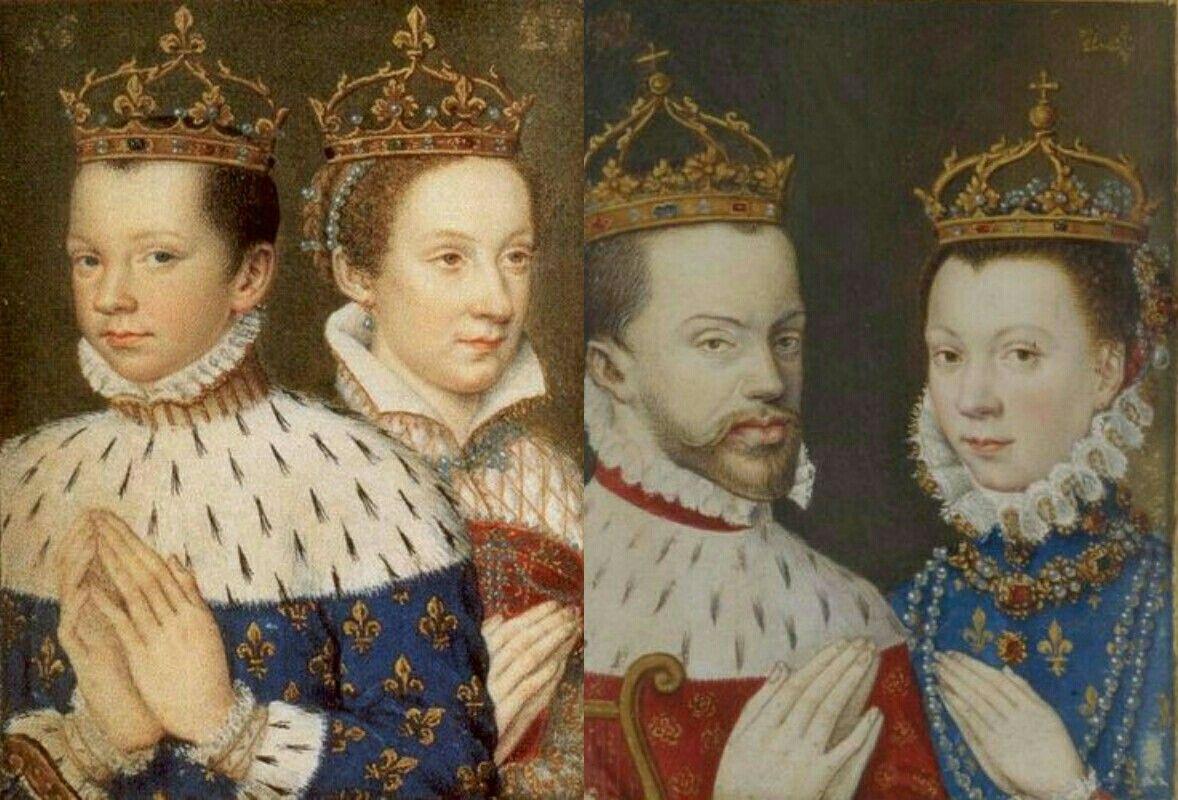Rey Francisco Ii De Francia Mary Stuart Rey Felipe Ii De España Isabel De Valois Felipe Ii De España Francisco Ii De Francia Mary Stuart