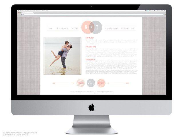 Elizabeth Andrs Designs Wedding Branding Kara Tom Logo and