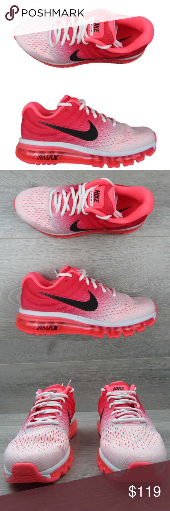 300bc9b463 Nike Air Max 2017 Running Shoes Size 9 Womens Pink Nike Air Max 2017  Running Shoes Size 9 Womens Pink Punch New Style - 849560 103 Women's Size 9  Brand NEW ...