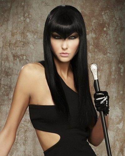 Sleek cut with avant garde fringe