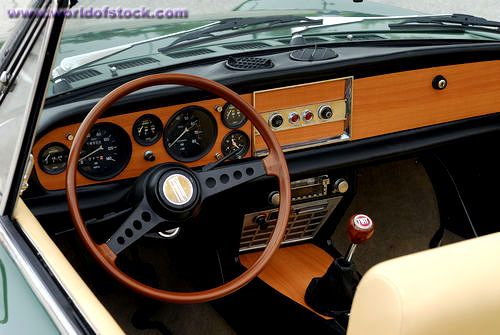 Fiat Spider Interior Stock Photo Titled Interior Of A