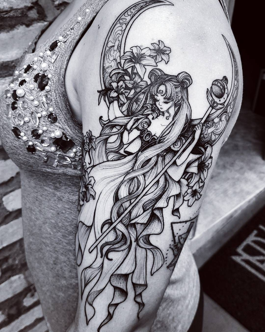 Princess Serenity tattoo. Sailor Moon. | Anime and Amazing Tattoos ...