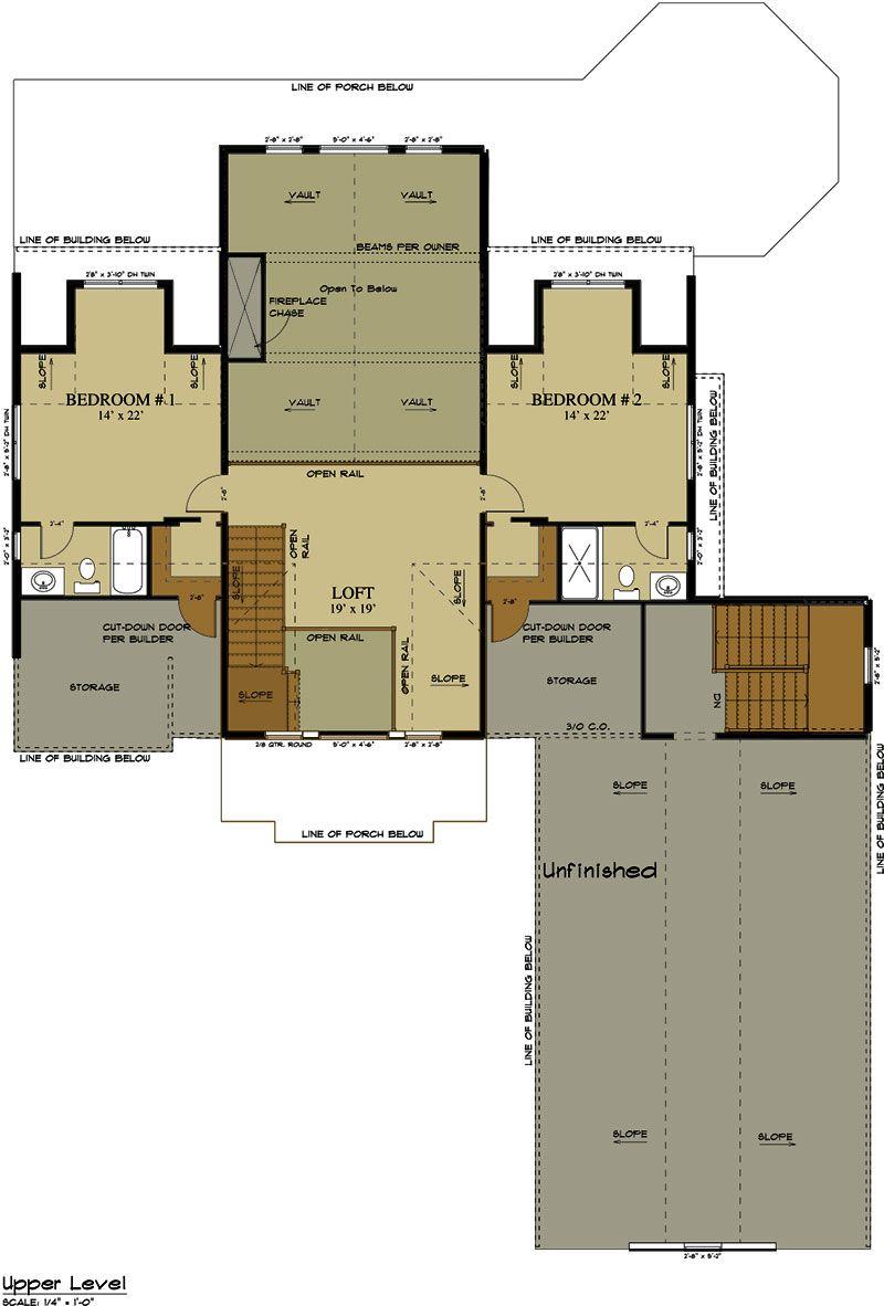 3 Car Garage Lake House Plan   Lake Home Designs Part 68