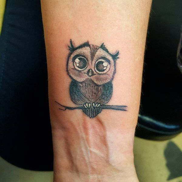 The Funny Baby Owl Wrist Tattoo Baby Owl Tattoos Owl Tattoo Cute Owl Tattoo