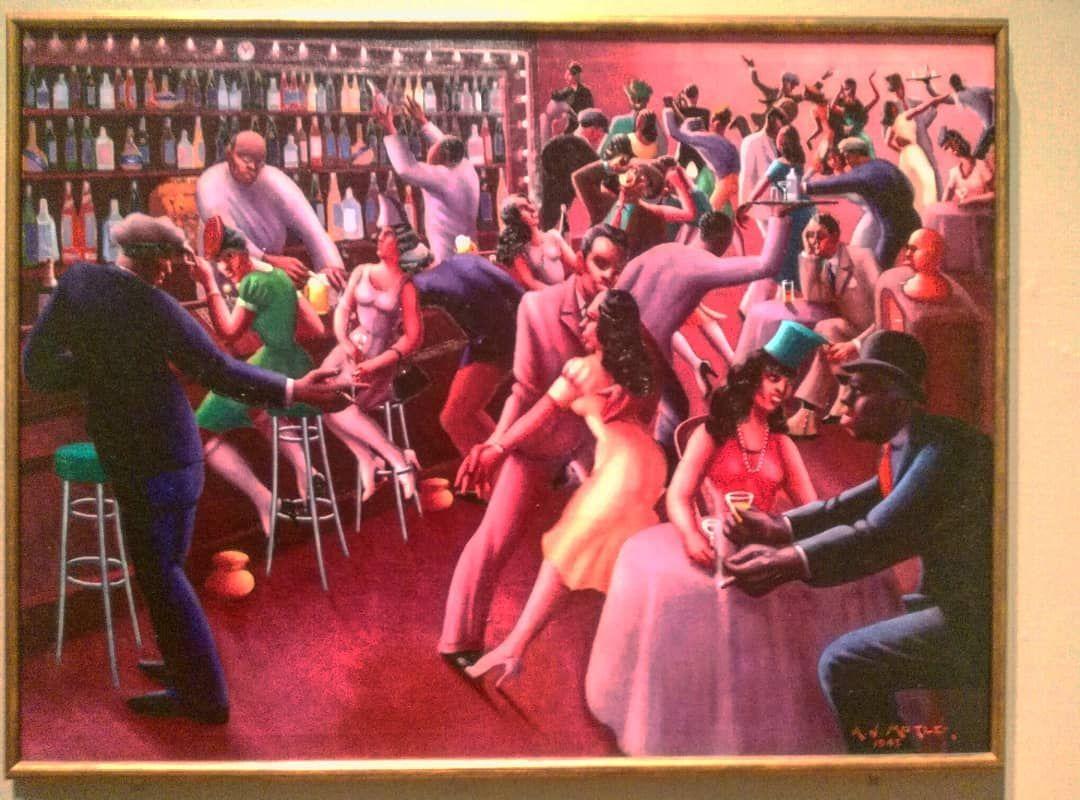 Archibald J Motley Jr American Nightlife 1943 Artinstitutechi Chicagoartist Artinstituteofchicago Artist C Chicago Artists Chicago Art Archibald Motley