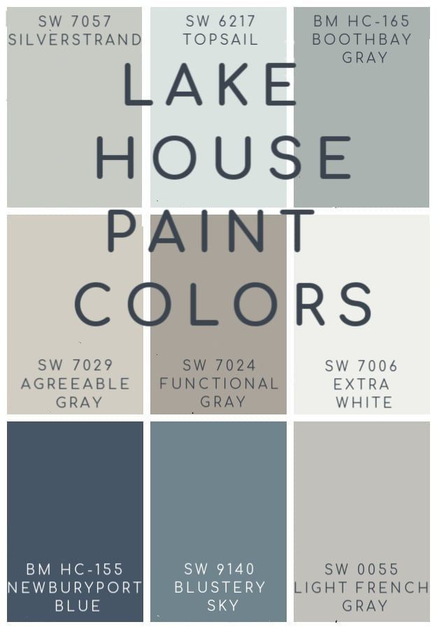 Photo of Lake House Blue and Gray Paint Colors | Paint colors for home, Paint colors, Grey paint colors