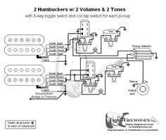 Guitar Wiring Diagram 2 Humbuckers3Way Toggle Switch2 Volumes2