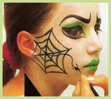 Pin de paulette aldana en disfras pinterest bruja - Como pintar la cara de nina de bruja ...