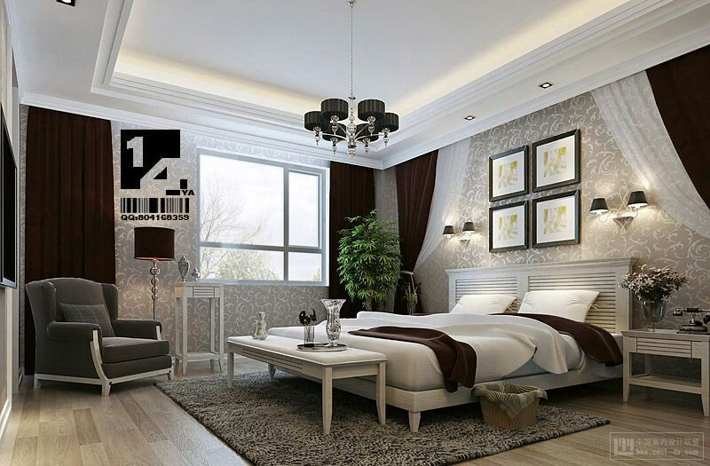Modern Chinese decor bedroom