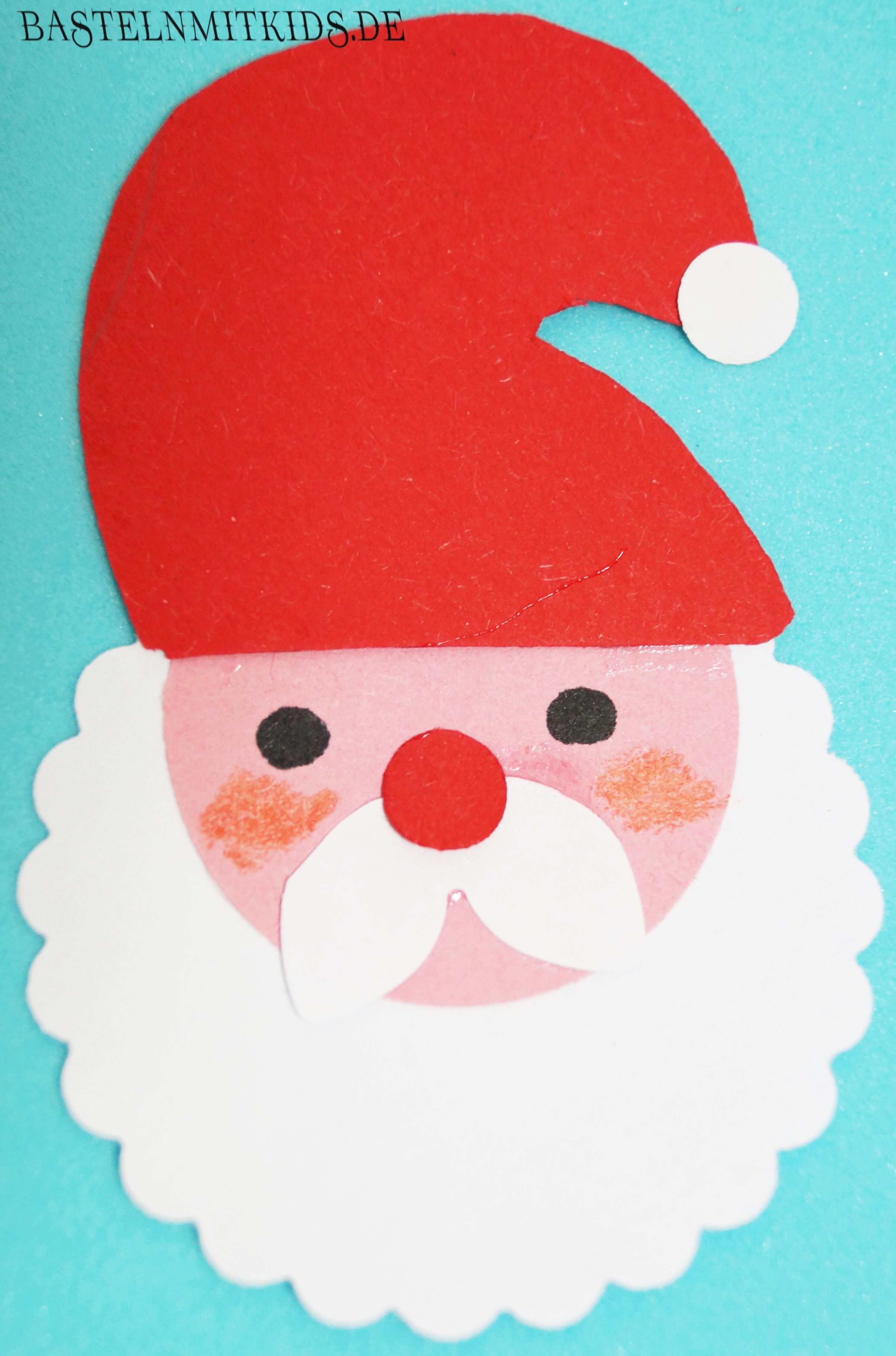 Applikation Weihnachtsmann Diy Gift Hello