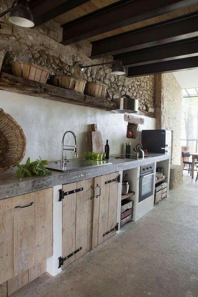 Gemauerte Kuchen Gemauerte Kuchen In 2019 Rustic Kitchen Design