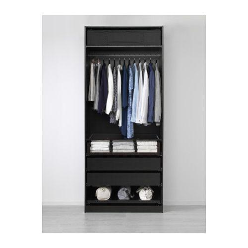 PAX Garderob - mjukstängande gångjärn, 100x60x236 cm - IKEA - armoire ikea porte coulissante