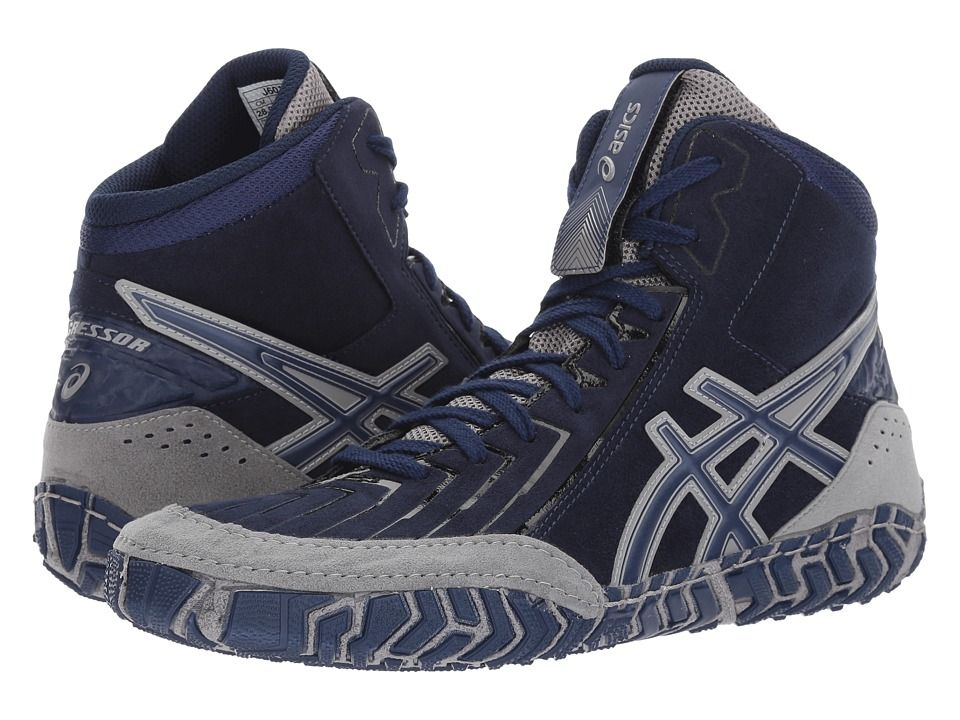 Asics Aggressor R 3 Men S Wrestling Shoes Indigo Blue Indigo Blue