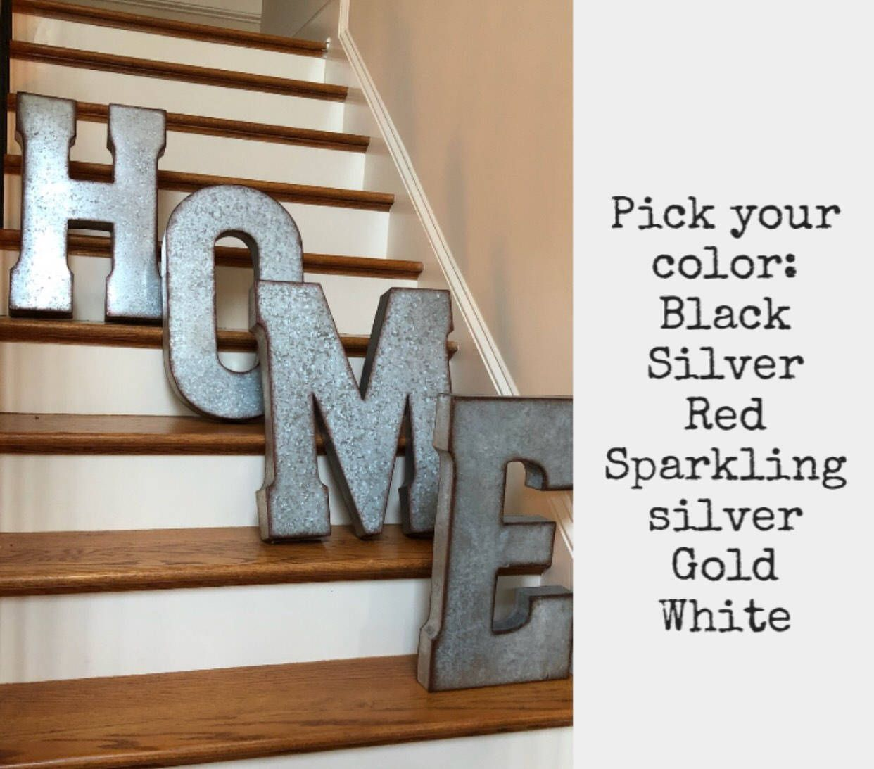 Extra Large Metal Letters Pick Color Word Play Playroom Letters