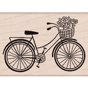 Bicycle Wood Stamp