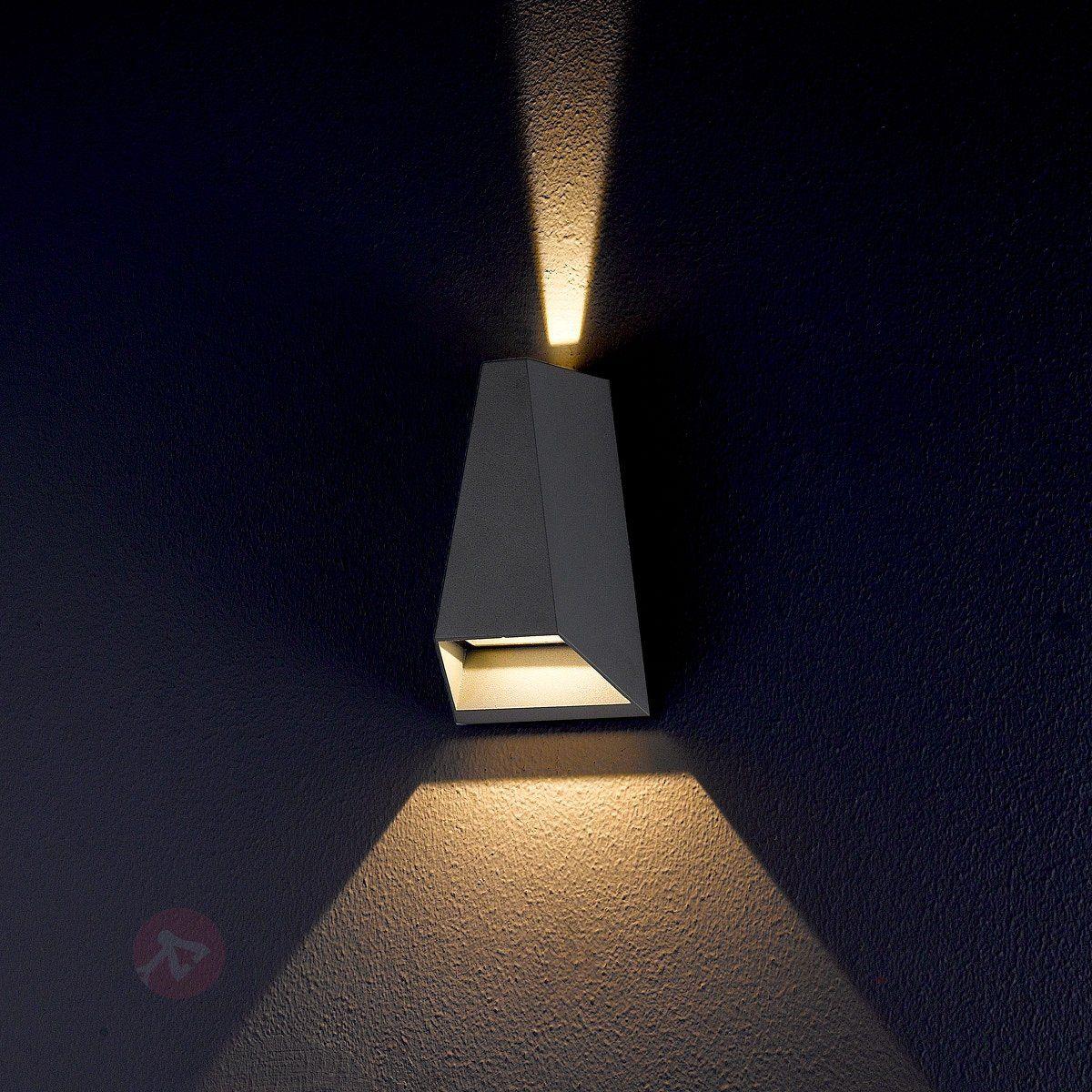 Utendørs Jendrik LED-vegglampe med to lysretninger 9616004