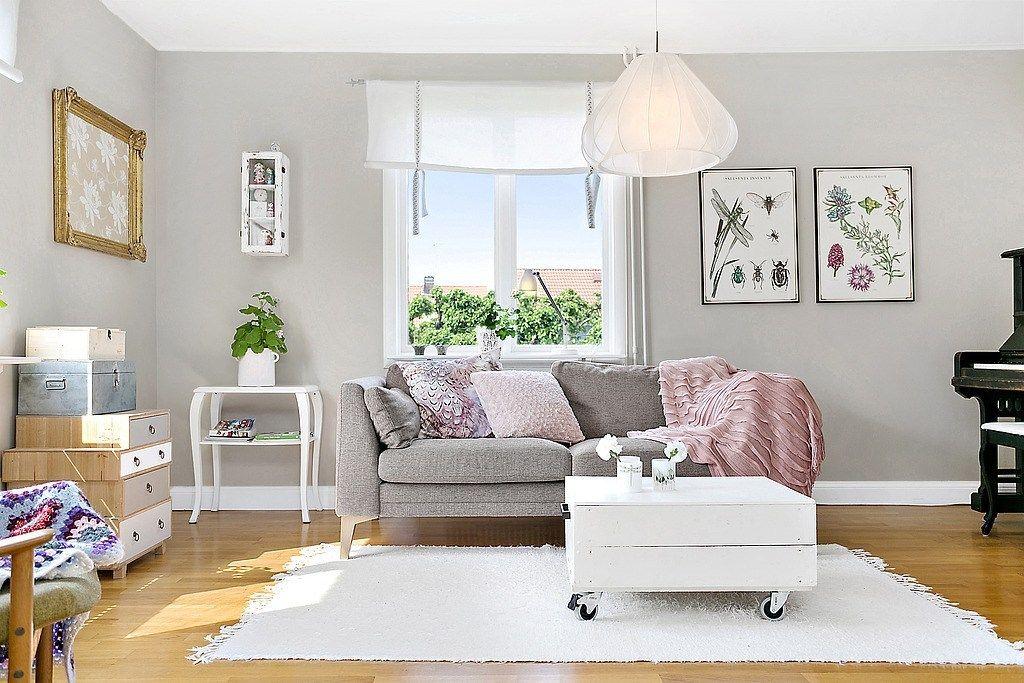 Grå Väggfärg I Vardagsrum Inredning Till Vårt Hus Pinterest Living Rooms And Room