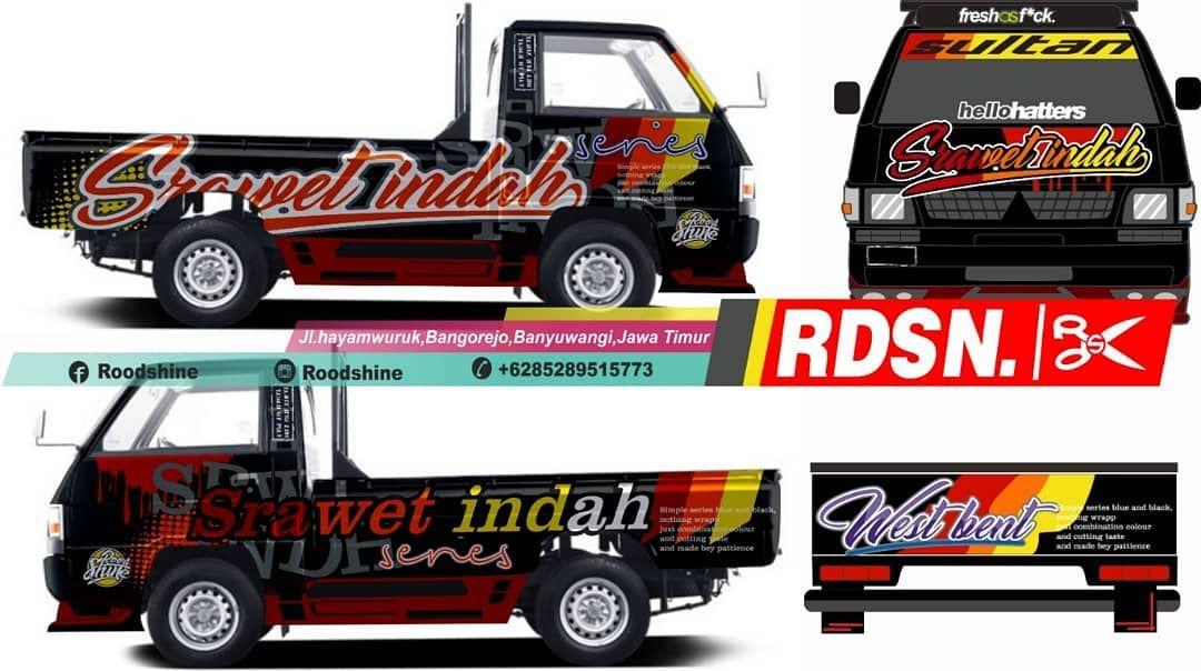 Decal Full L300 L300cuttingsticker L300pickupmodifikasi L300indonesia Eltitusi Decalmurah Stikermurah Stripingmurah Desain Decal Mobil Modifikasi Mobil