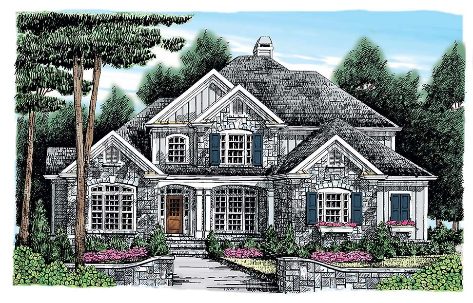 Traditional Style House Plan 83078 With 5 Bed 4 Bath 2 Car Garage In 2020 Country Floor Plans French Country House Country Style House Plans