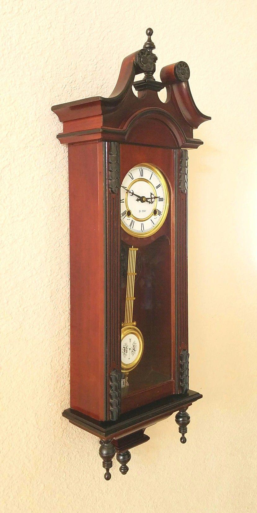 Vienna Regulator Style Chiming Pendulum Wall Clock With Professionally Restored 31 Day Clockwork Thecloc Pendulum Wall Clock Antique Wall Clock Antique Clocks