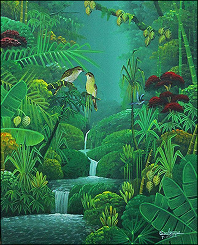 The conversation by albott bonhomme haitian art for Dschungel malen