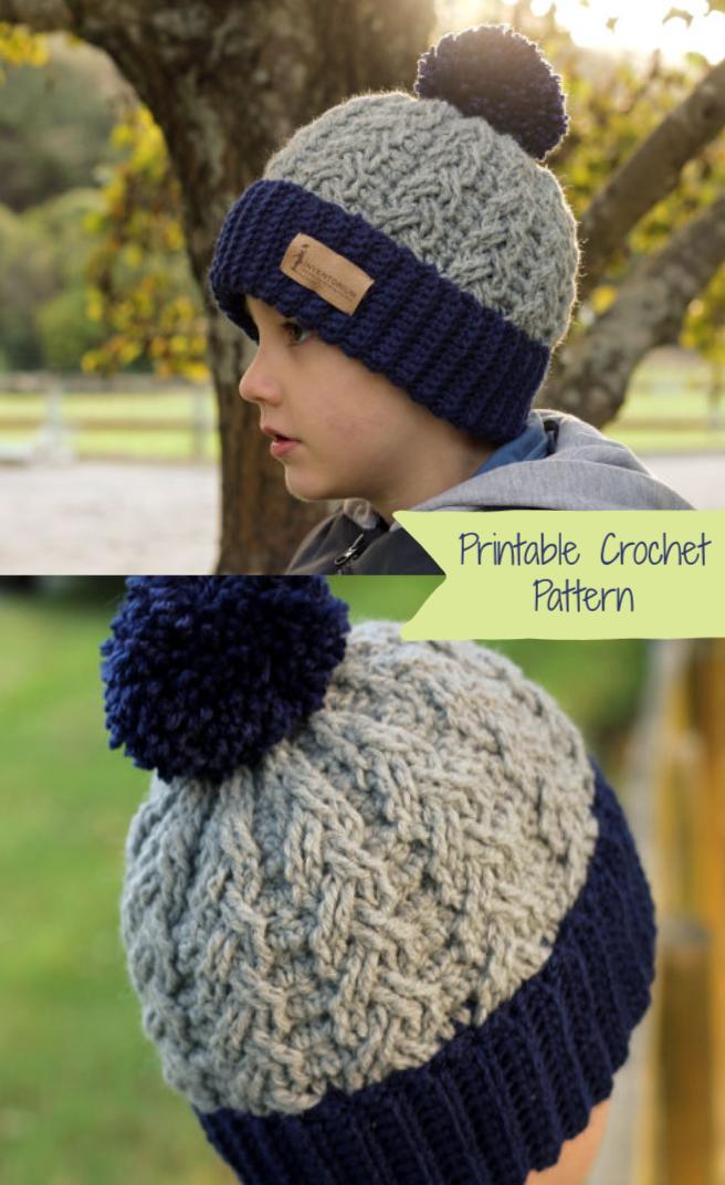 Love This Toboggan Carson Winter Hat Crochet Pattern Crochet Cable