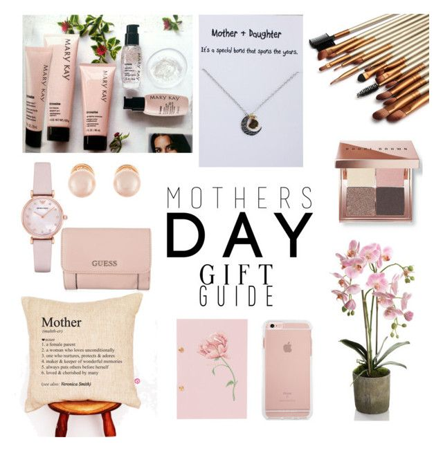 """Mothers Day Gift Guide - pink"" by makesmefashionable on Polyvore featuring Emporio Armani, Kenneth Jay Lane, Bobbi Brown Cosmetics, GUESS and mothersdaygiftguide"