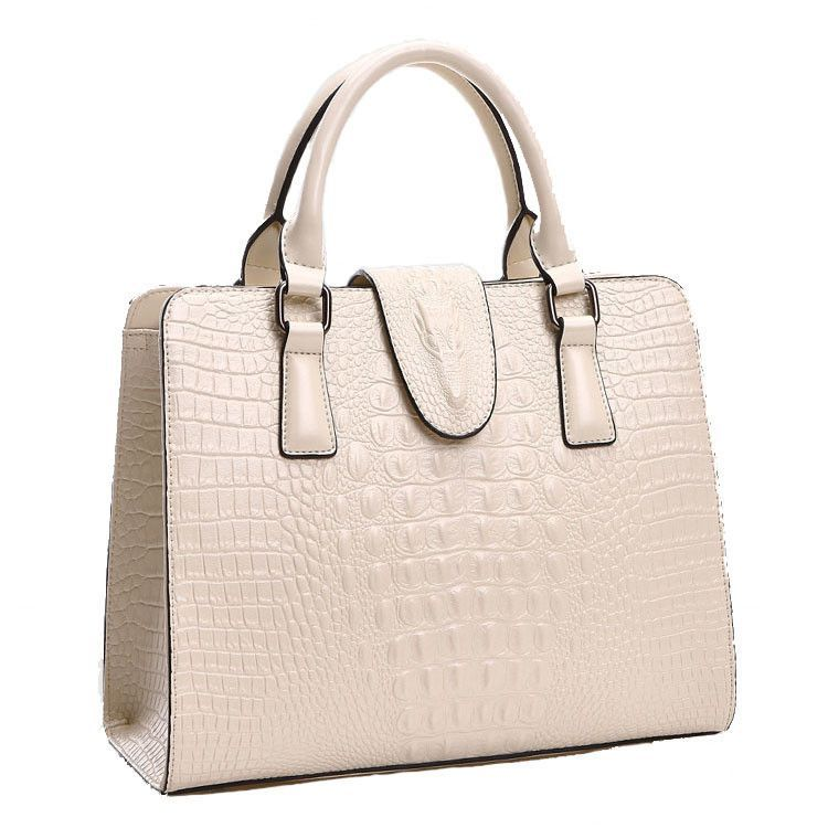 6e0abdba316d Genuine Leather Bag Ladies 2016 Crocodile Pattern Messenger Luxury Handbags  Women Famous Brand Designer Alligator Fashion · Top Handle BagsWomens ...